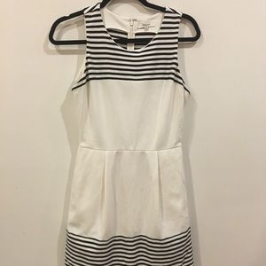 Black and White Striped Madewell Dress